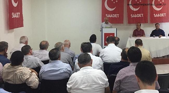 SAADET PARTİSİ AYLIK İL DİVAN TOPLANTISI YAPILDI