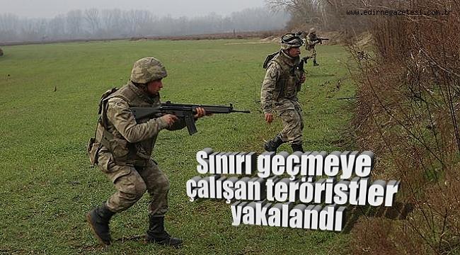 TERÖR ÖRGÜTÜ PKK ŞÜPHELİLERİ SINIRDA YAKALANDI