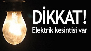 EDİRNE'DE ELEKTRİK KESİNTİSİ