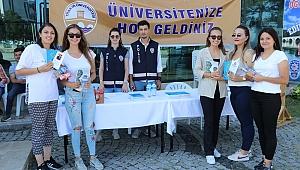 TEM Şube ekibi üniversite öğrencilerini bilgilendirdi