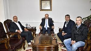 VALİ CANALP'E ZİYARETLER