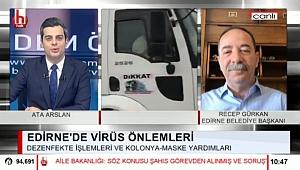 BAŞKAN GÜRKAN HALK TV'DE COVİD-19 TEDBİRLERİNİ ANLATTI