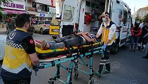 Tekirdağ'da alkollü ve ehliyetsiz sürücünün kullandığı otomobilin çarptığı kişi yaralandı