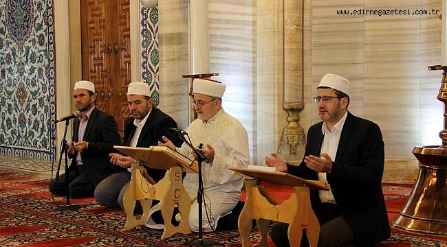Selimiye Camisi'ndeki Ramazan Bayramı programı sosyal medyadan canlı yayınlandı