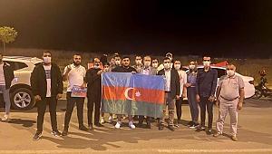 EDİRNE'DE AZERBAYCAN'A DESTEK KONVOYU
