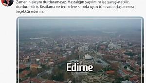 BAKAN KOCA'DAN EDİRNE'YE TEŞEKKÜR