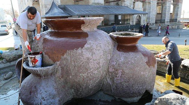 Süs havuzları bahara hazırlanıyor