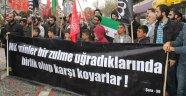 İdlib'deki saldırıya protesto